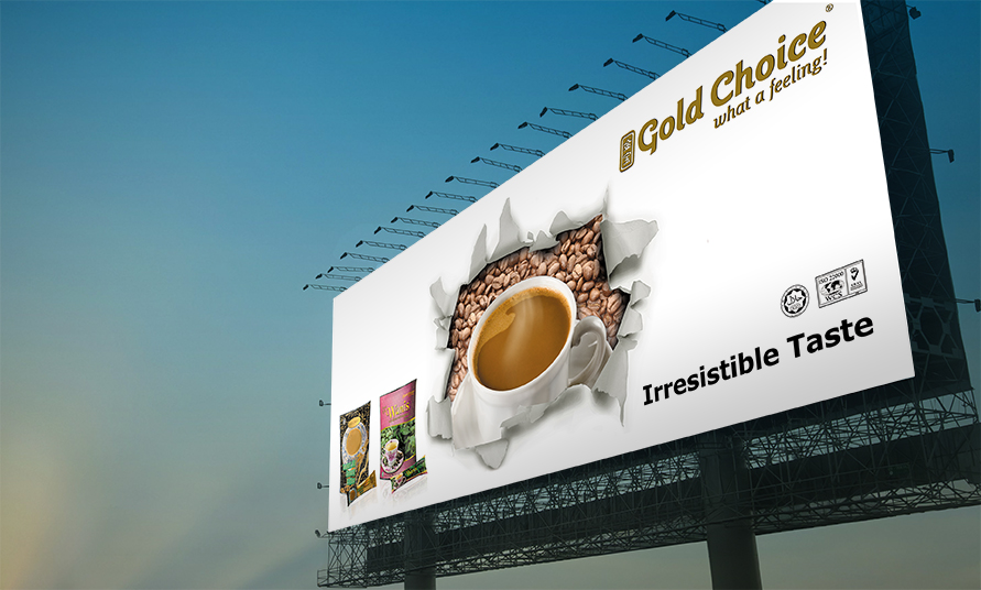 gold choice billboard